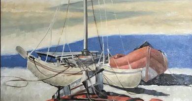 加拿大华人艺术家孙昌茵油画作品《海浪系列》欣赏